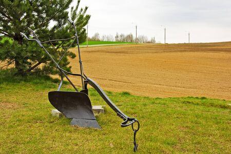 Metal plow for plowing fields