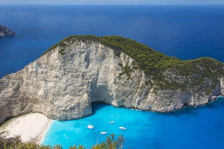 Navajo Cove on the island of Zakynthos (Greece)