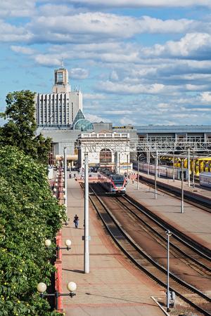 Belarus, Minsk - 08152016: Railway station Minsk-Passazhirsky (Belarus, Minsk)