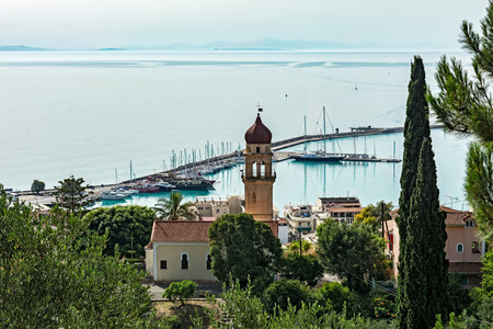 Greece, the island of Zakynthos - 06/17/2016: View of the church of the Virgin Mary Pikridiotissas Editorial