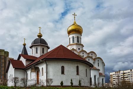 parish: Belarus, Minsk - 08.04.2017: The Church of St. Michael the Archangel