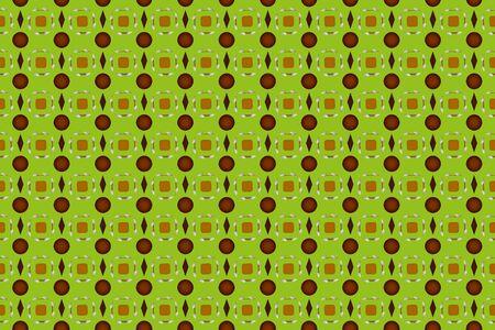 Seamless pattern. Geometric shapes square, circle and diamond pattern on a beige background