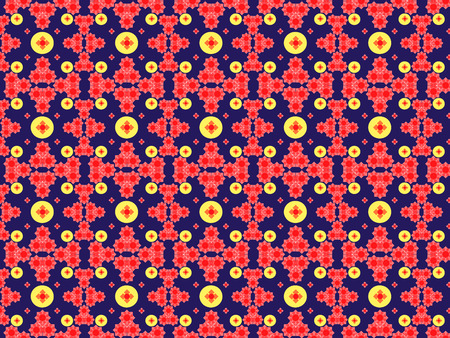 Seamless colored pattern of geometric and arbitrary shapes of different shapes