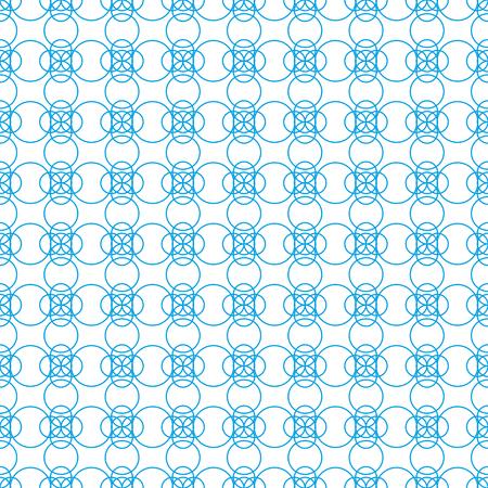 Arbitrary geometric shapes on seamless pattern on white background Stok Fotoğraf - 97377800