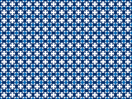 Seamless color pattern from geometric shapes of any shape