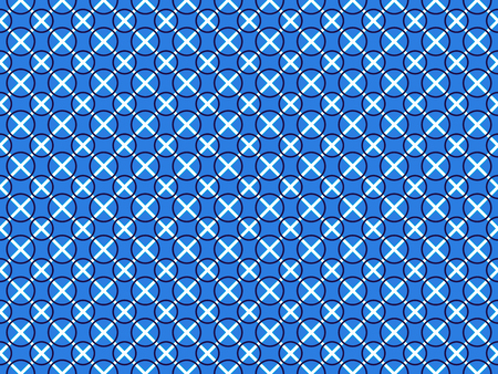 Arbitrary geometric shapes on seamless pattern on white background