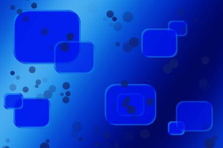 Abstraktes Muster von geometrischen Formen in den blauen und hellblauen Standard-Bild - 98100171