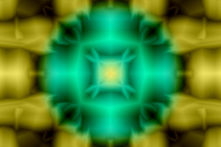 Abstract pattern in green and yellow