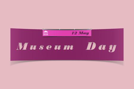 The name of the international Museum Day Reklamní fotografie