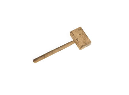 Joiner's tools. A wooden mallet is a carpenter's hammer. Used to work with chisels and chisels