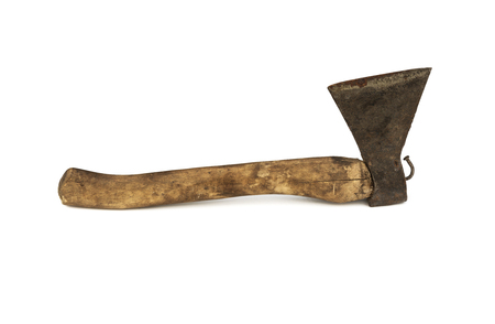 Tool. Axe for wood processing, white background