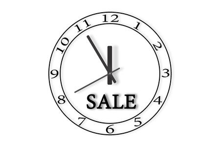 Watch with the inscription sale. Time on the clock 23: 55