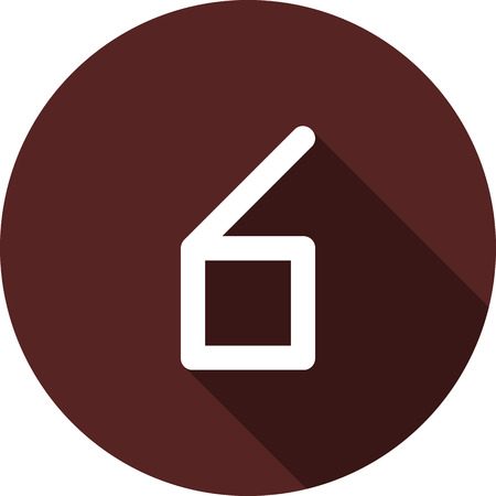 Vector image. Icon with the number six on a circle of maroon color