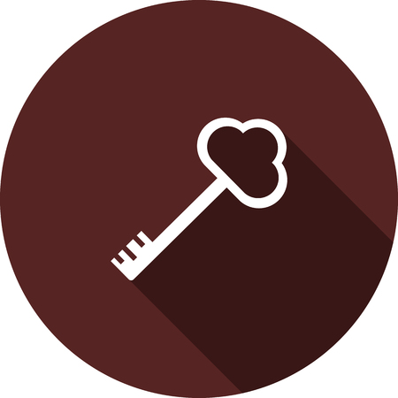 Vector image. The icon key on the circle maroon
