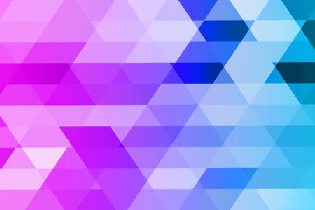 Abstract mosaic of geometric shapes in blue-violet tones