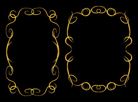 Two decorative twisted frames for decoration and photos Çizim