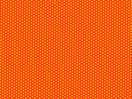 Abstract pattern. Yellow balls on red surface Vectores