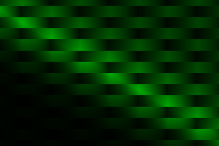Geometric symmetrical pattern of rectangular stripes in green gradient