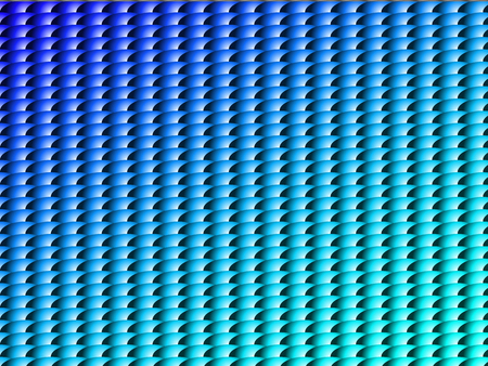 Symmetrical abstract pattern in blue and light blue gradient