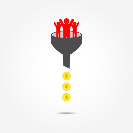 Transformation of human resource into money, conceptual image Stok Fotoğraf - 109761824