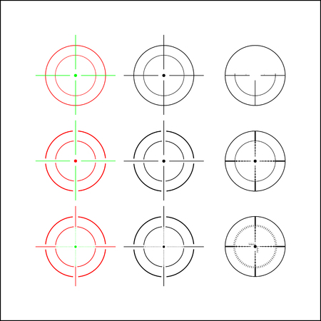 Set of nine marking options for optical sight