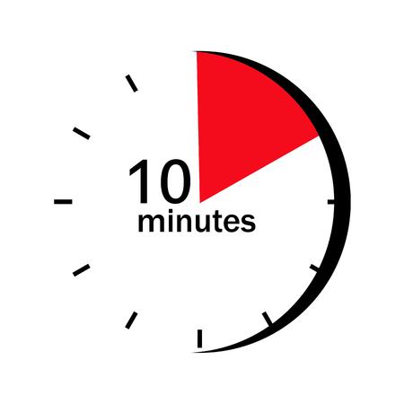Sur le cadran de l'horloge marqué secteur rouge une minute 10