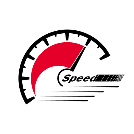 Abstract figure of speed symbol. Can be used for auto, internet, sites and applications.