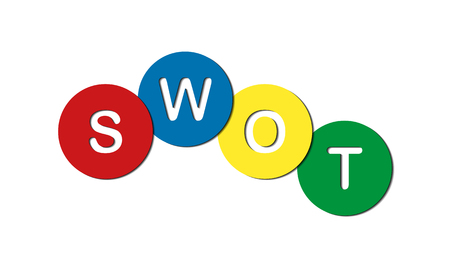 abbreviation SVOT - strategic planning method, strengths and weaknesses, opportunities and threats Vecteurs