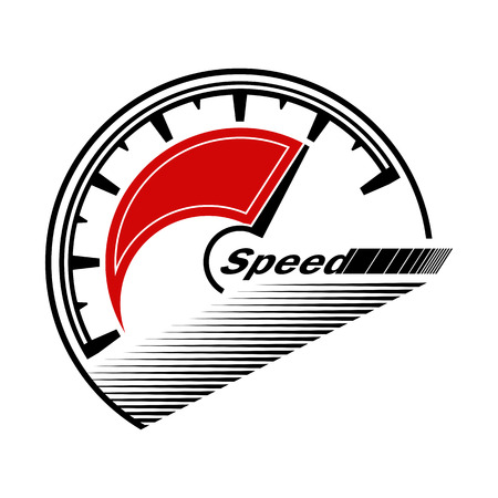 Abstract figure of speed symbol. Can be used for auto, internet, apps and sites.