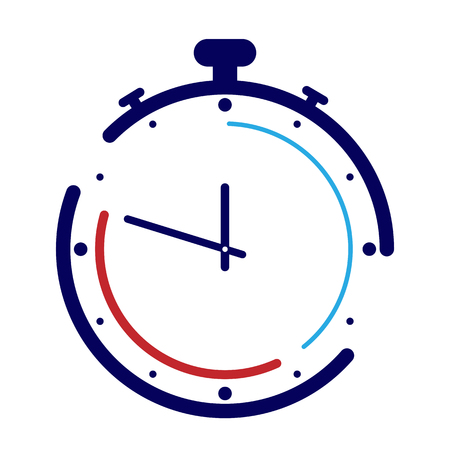 Stopwatch theme of time, sport and competition
