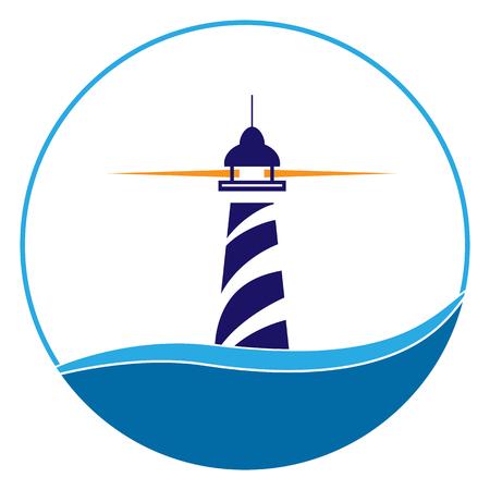 Icona del faro. Spedizioni marittime e navigazione
