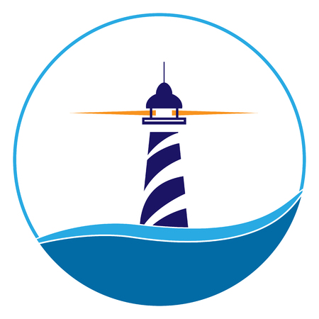 Lighthouse icon. Maritime Shipping and Navigation