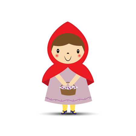 Little Red Riding Hood with a basket in his hands
