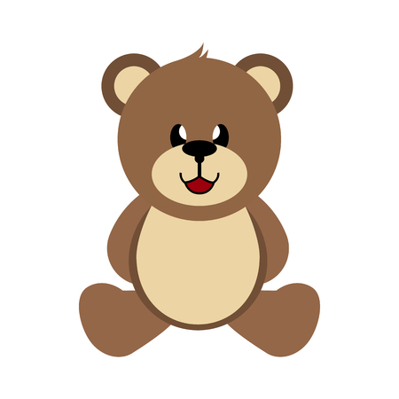 Bear, hand-drawn children's toy, simple color image Vetores