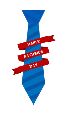 Congratulatory illustration with the inscription happy father's day Illustration