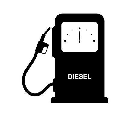 Column for refueling vehicles with Diesel lettering, simple drawing