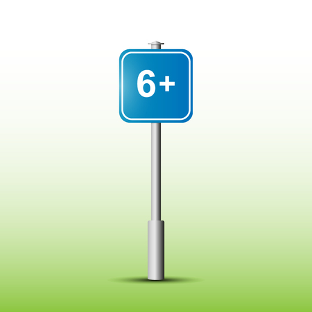 Information sign with the designation Age limit 6+
