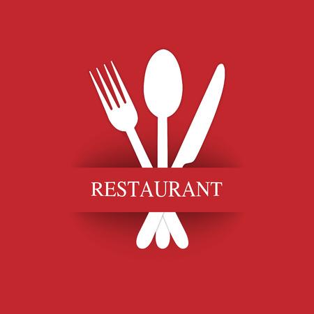 Logo zur Dekoration der Speisekarte des Restaurants Gastroservice oder Catering Logo