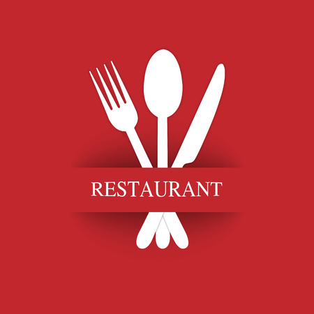 Logo for the decoration of the menu of the restaurant gastroservice or catering