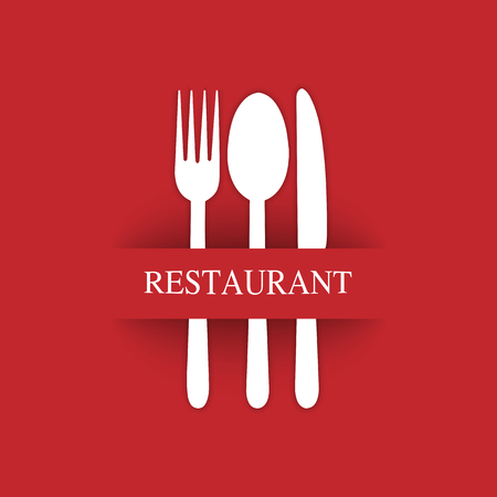 Logo for the decoration of the menu of the restaurant gastroservice or catering Banque d'images - 118407724