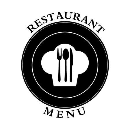 Logo pour la décoration du menu du restaurant gastroservice ou traiteur