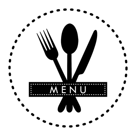Logo for the decoration of the menu of the restaurant gastroservice or catering Banque d'images - 118407797