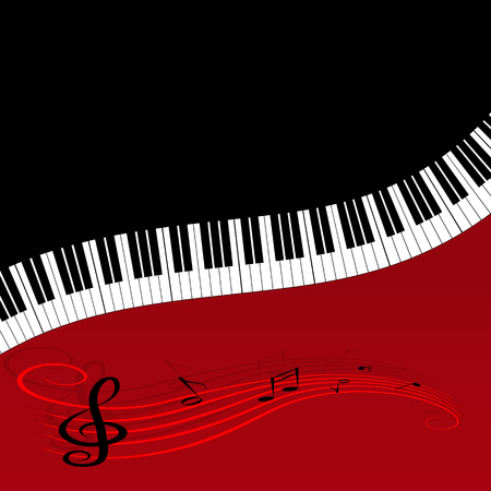 Abstract music background with keys for decoration and design 向量圖像