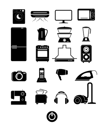 character set of appliances for your sites and applications Imagens - 124735139
