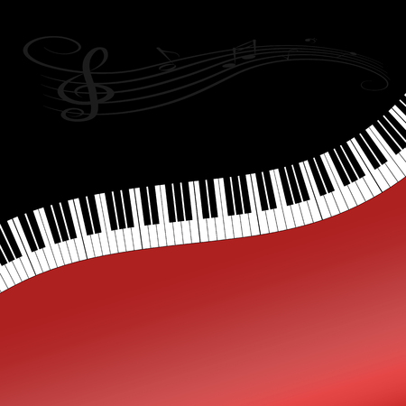 Abstract music background with keys for decoration and design Illustration