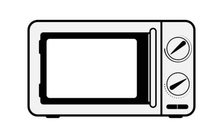 Haushaltsgeräte für die Küche, das einfache Bild einer Mikrowelle Vektorgrafik