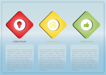 Infographics for visual design of business projects, strategies and planning Ilustração