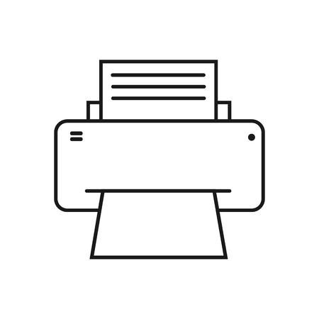 Fax icon, simple design style, flat image Illustration