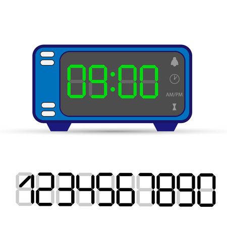 Electronic clock with a set of numbers for decoration and design Stok Fotoğraf - 128686935