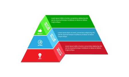 Infographics, pyramid for visual design of business projects, strategies and planning Stok Fotoğraf - 128686398